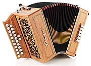 Castagnari Alain 12 button accordion, natural finish cherry