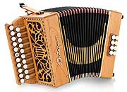 Castagnari Lilly button accordion, natural finish cherry