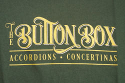 Button Box Green & Gold Logo Shirts